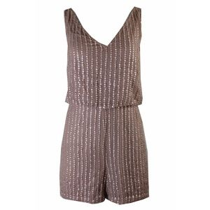 Adrianna Papell Rose Gold Sequined Romper